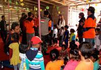 Tim Indonesia Peduli Nepal Hibur Murid PAUD di Satungal